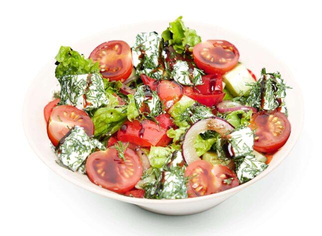 Салат овочевий з фетою